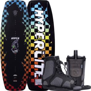 Hyperlite Kids Murray #2022 w/Remix Boat Wakeboard Package - Black